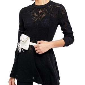 NWT Free People Coffee Mornings Lace Dress. Size M